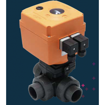 Type 125/128 Electrically Actuated 3-Way Ball Valve