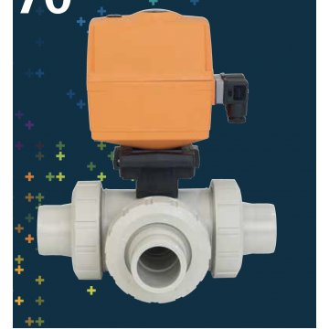 Type 167-170 Electrically Actuated 3-Way Ball Valves