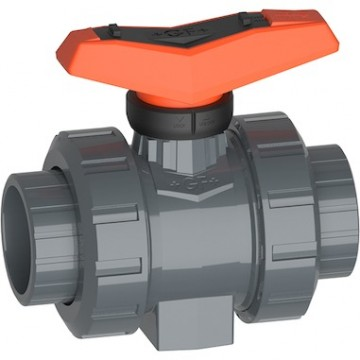 Ball valve type 546 Pro PVC-U With solvent cement sockets Inch ASTM Inclusive 2 threaded valve ends NPT