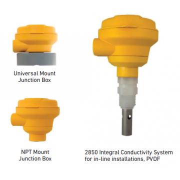 Signet 2850 Conductivity/Resistivity Sensor Electronics and Integral Systems with PVDF Sensor